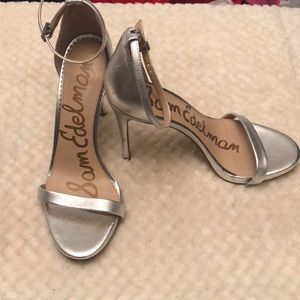Sam Edelman Dash Ariella silver pump leather upper